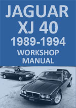 Jaguar XJ40 1989-1994 Workshop Repair Manual